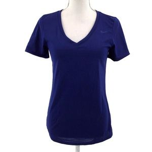 The Nike Tee Royal Blue Short Sleeve V-Neck Top S